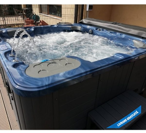 jacuzzi spa 319 albastru marin fatada gri